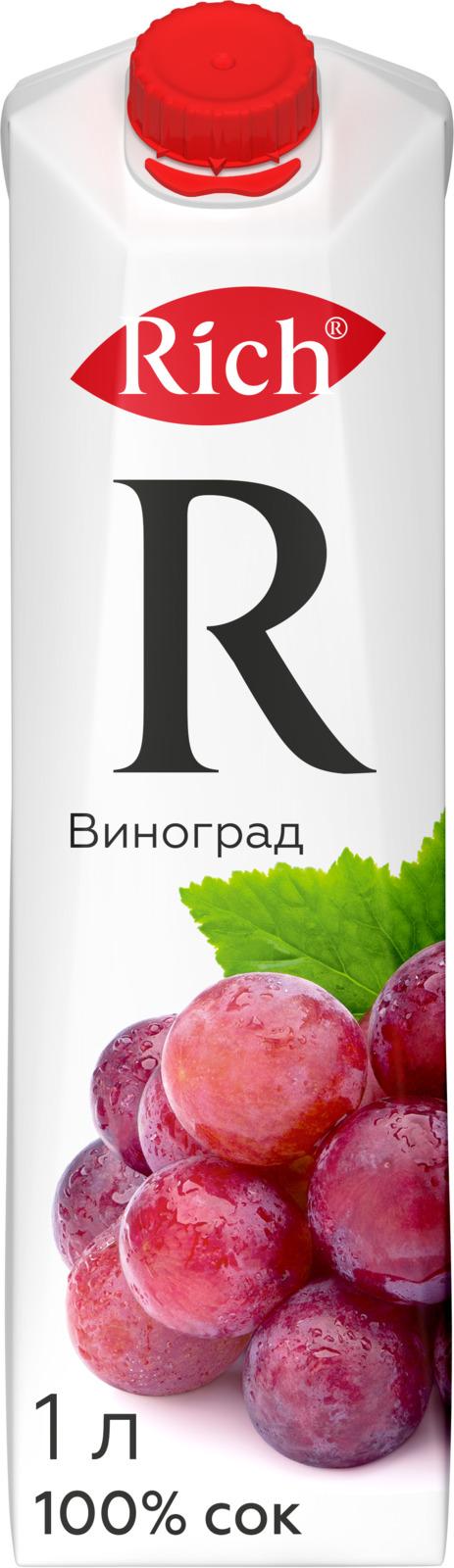 Rich Виноградный сок, 1 л