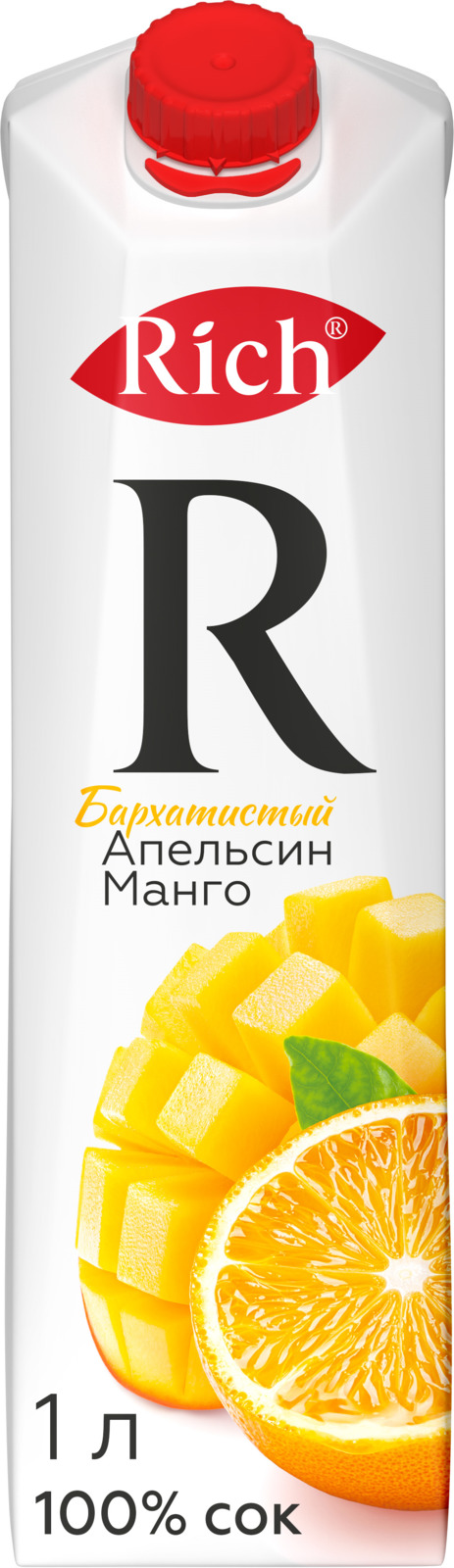 Richнектар Апельсин-Манго, 1 л Rich