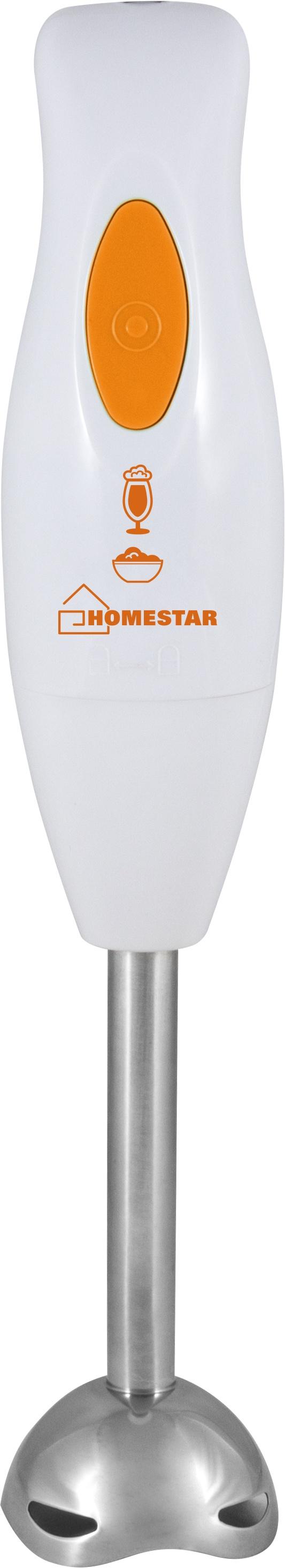 Блендер погружной HOMESTAR HS-2017, 54 004088, бело-оранжевый блендер погружной saturn st fp8063 300вт белый