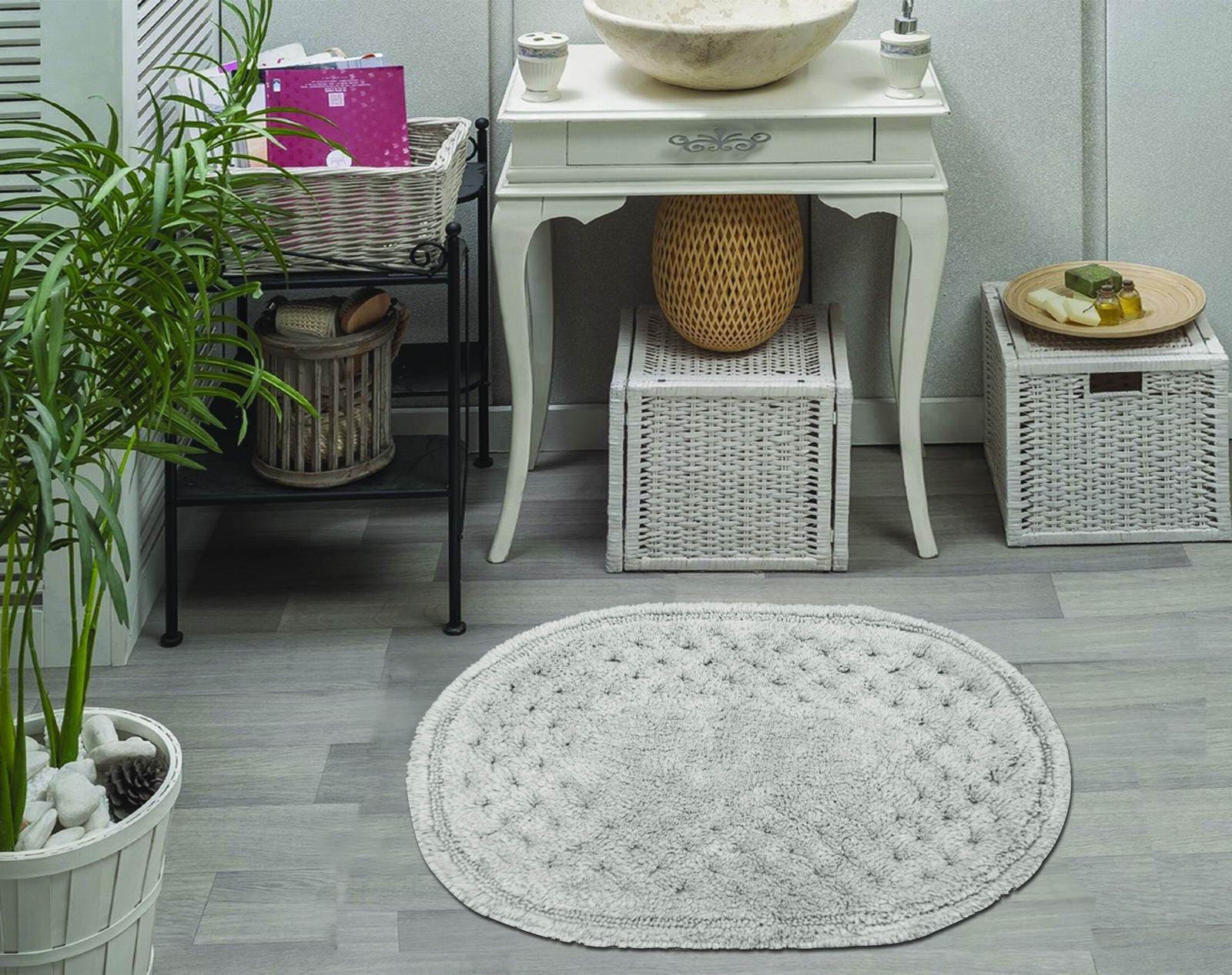 Набор ковриков для ванной Sofi de Marko, S.191, серый, 2 шт