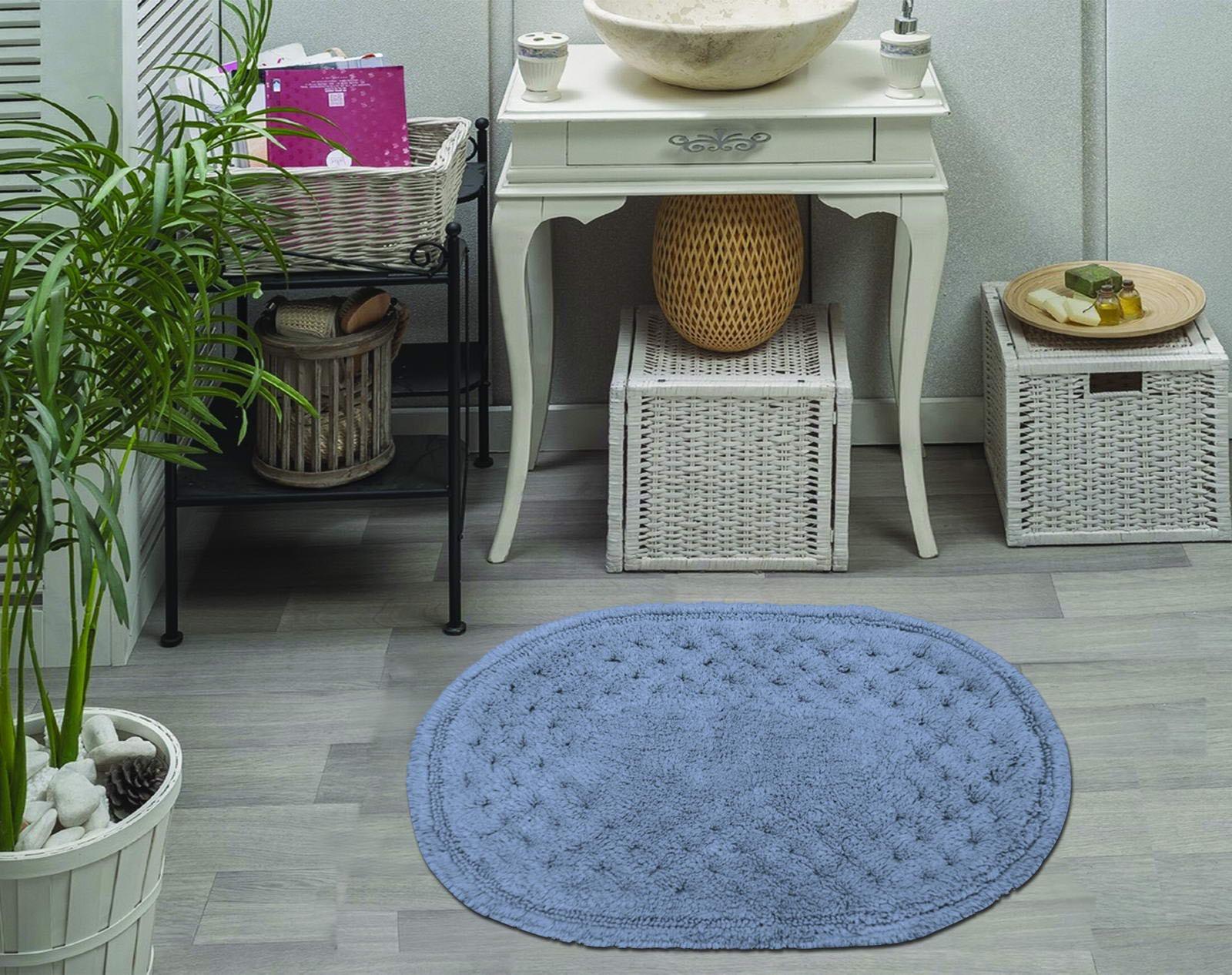 Набор ковриков для ванной Sofi de Marko, S.197, синий, 2 шт