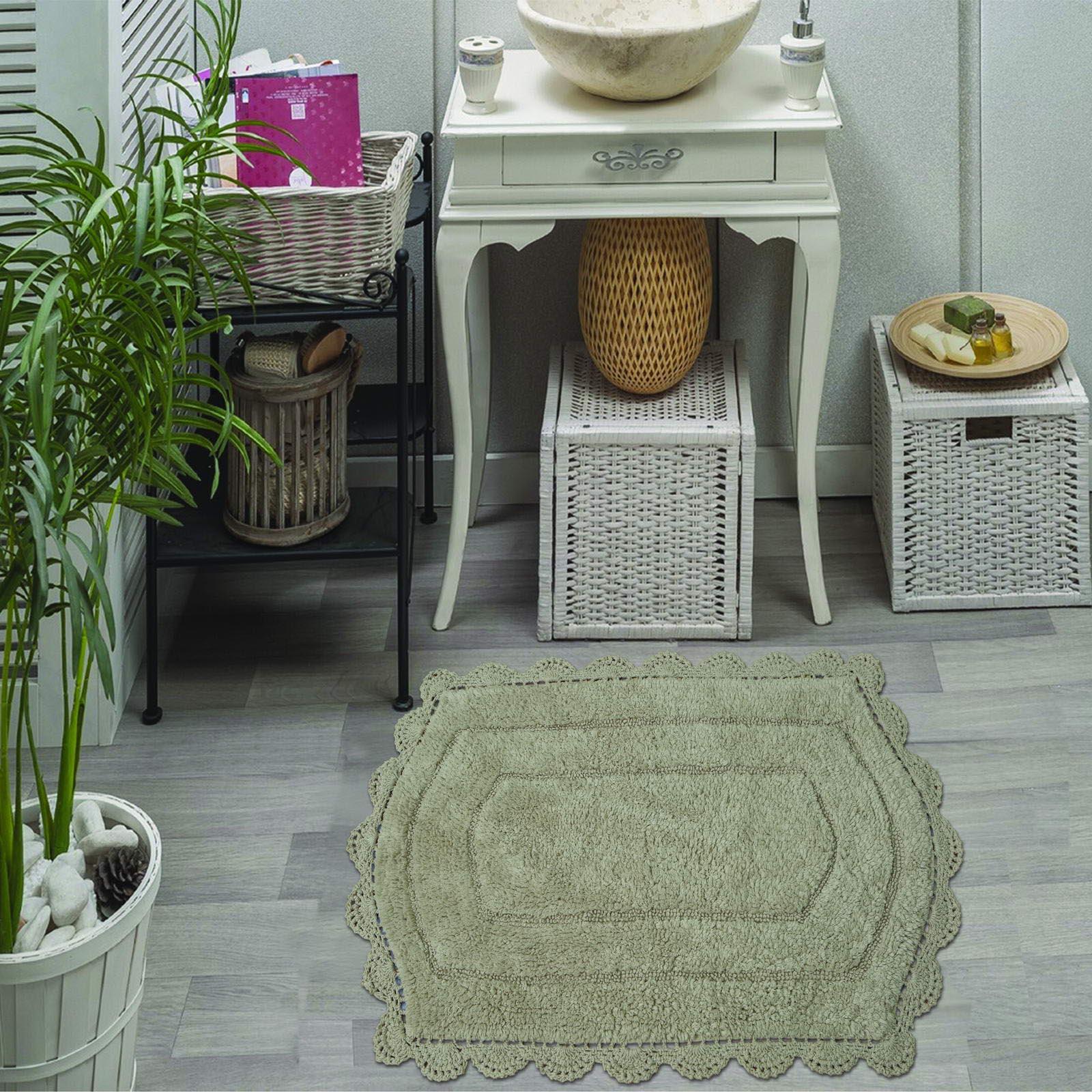 """Набор ковриков для ванной Sofi de Marko """"Кружево"""", S.072, стоун, 2 шт"""