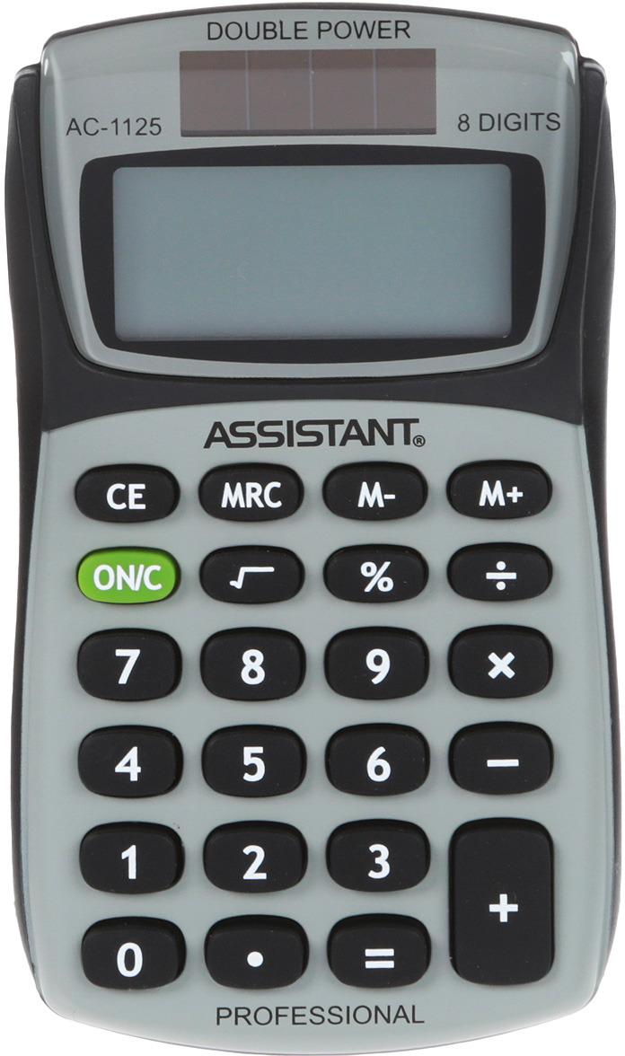 Калькулятор Assistant AC-1125, 8-разрядный калькулятор assistant ac 1127 8 разрядный