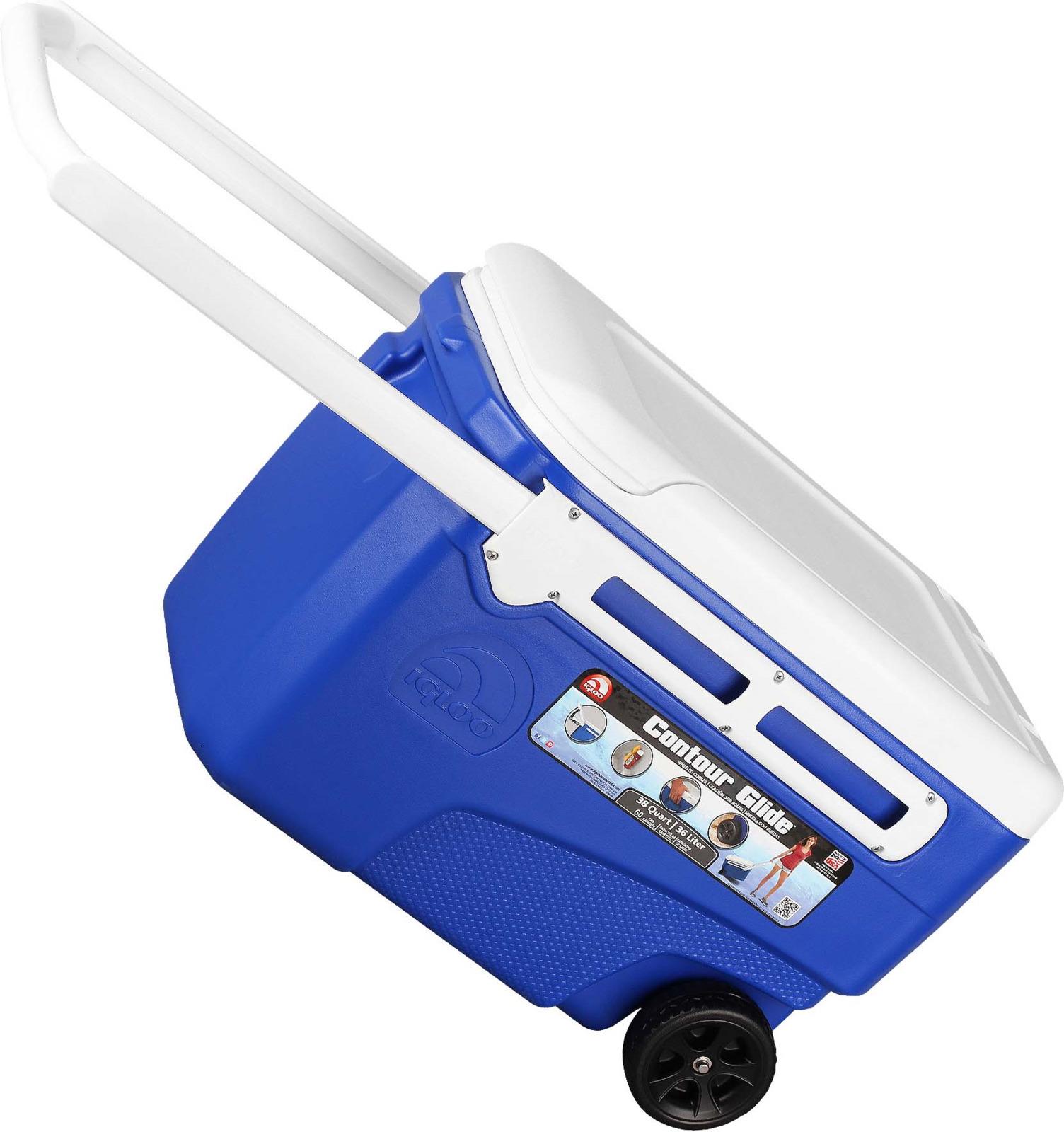 Контейнер изотермический пластиковый Igloo Contour Glide 38, 45756, синий