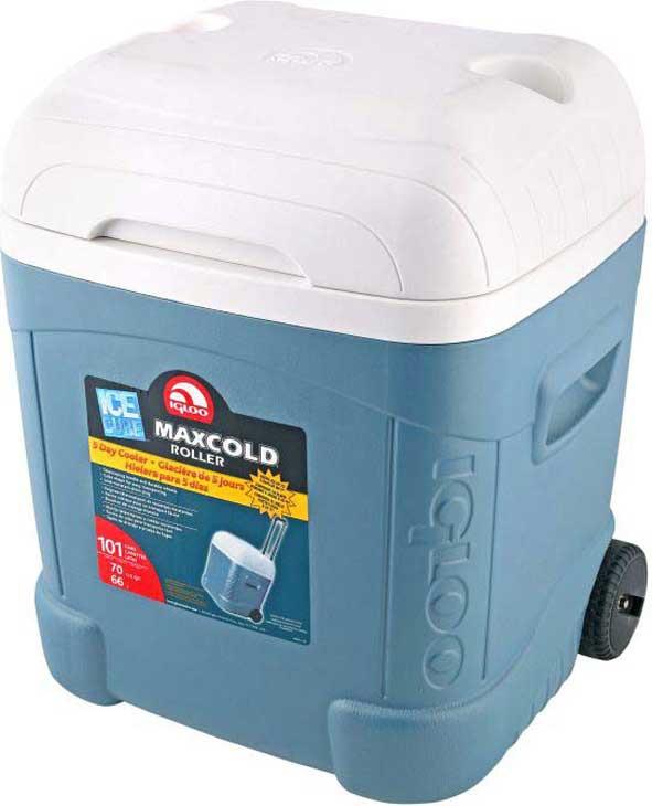 Контейнер изотермический пластиковый Igloo Ice Cube Maxcold 70 Roller, 34071, синий