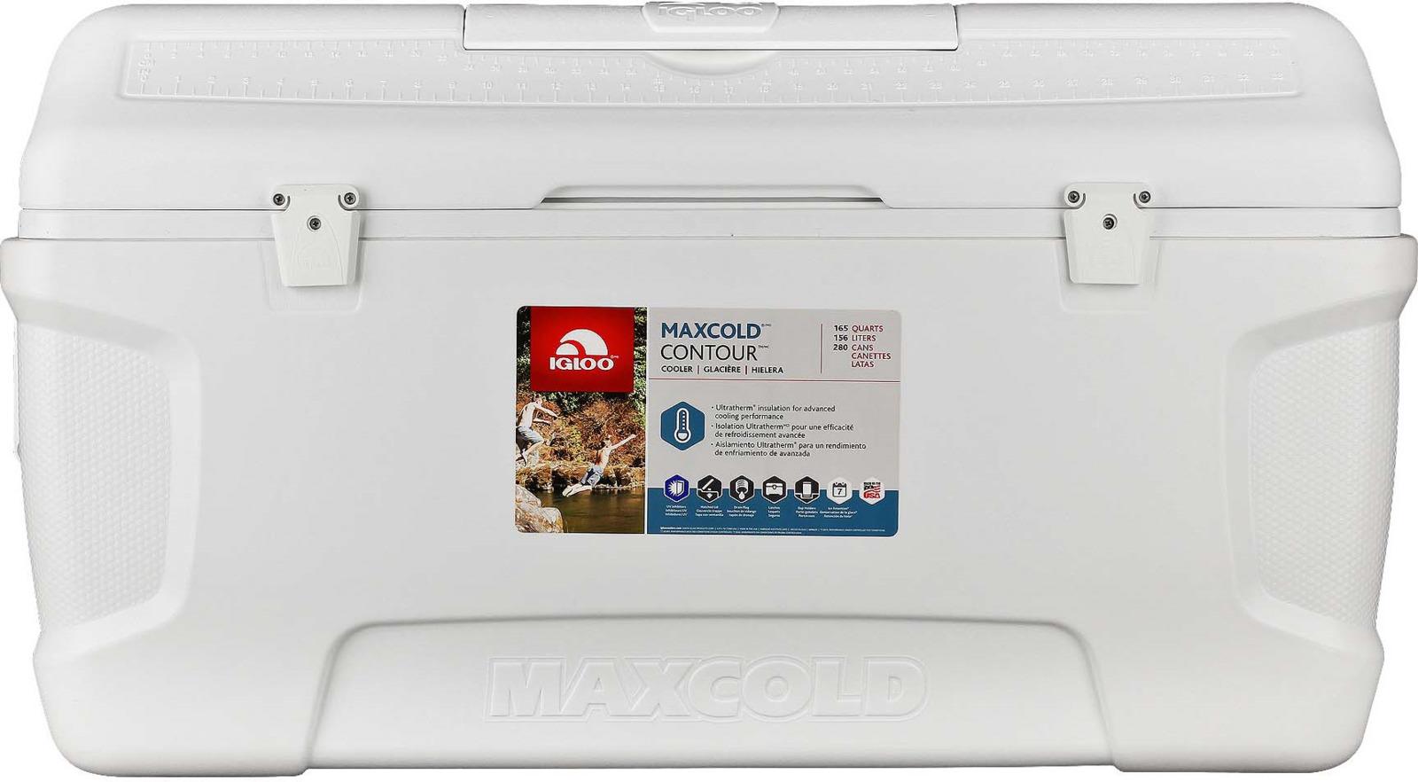 Контейнер изотермический пластиковый Igloo Maxcold Contour 165, 49628, белый