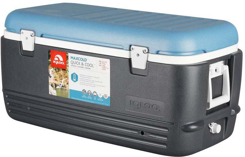 Контейнер изотермический пластиковый Igloo MaxCold Quick&Cool 100, 49496, темно-синий
