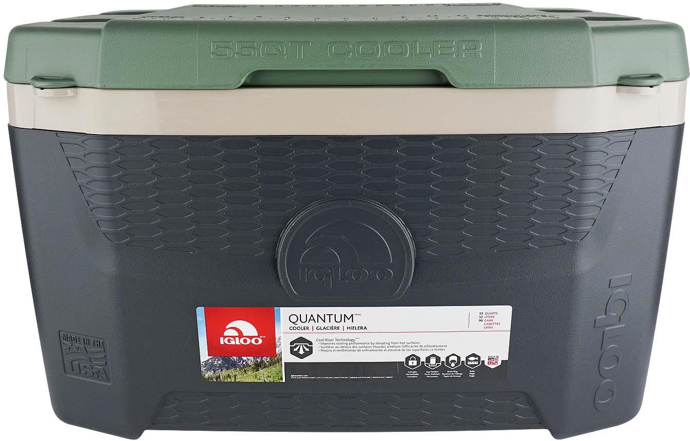 Контейнер изотермический пластиковый Igloo Quantum 55, 49624, зеленый