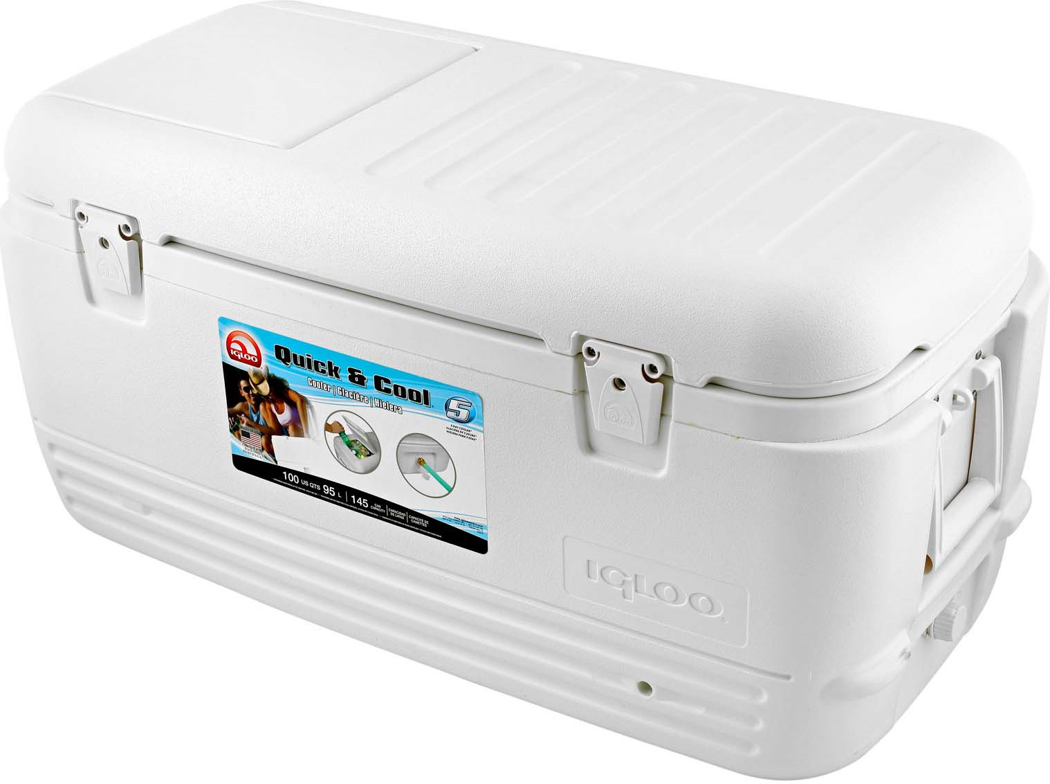 Контейнер изотермический пластиковый Igloo Quick&Cool 100, 11442, белый