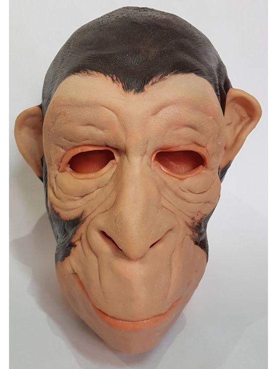 Маска карнавальная Филькина грамота Обезьяна коричневая, латексная, MS0000068 карнавальная маски