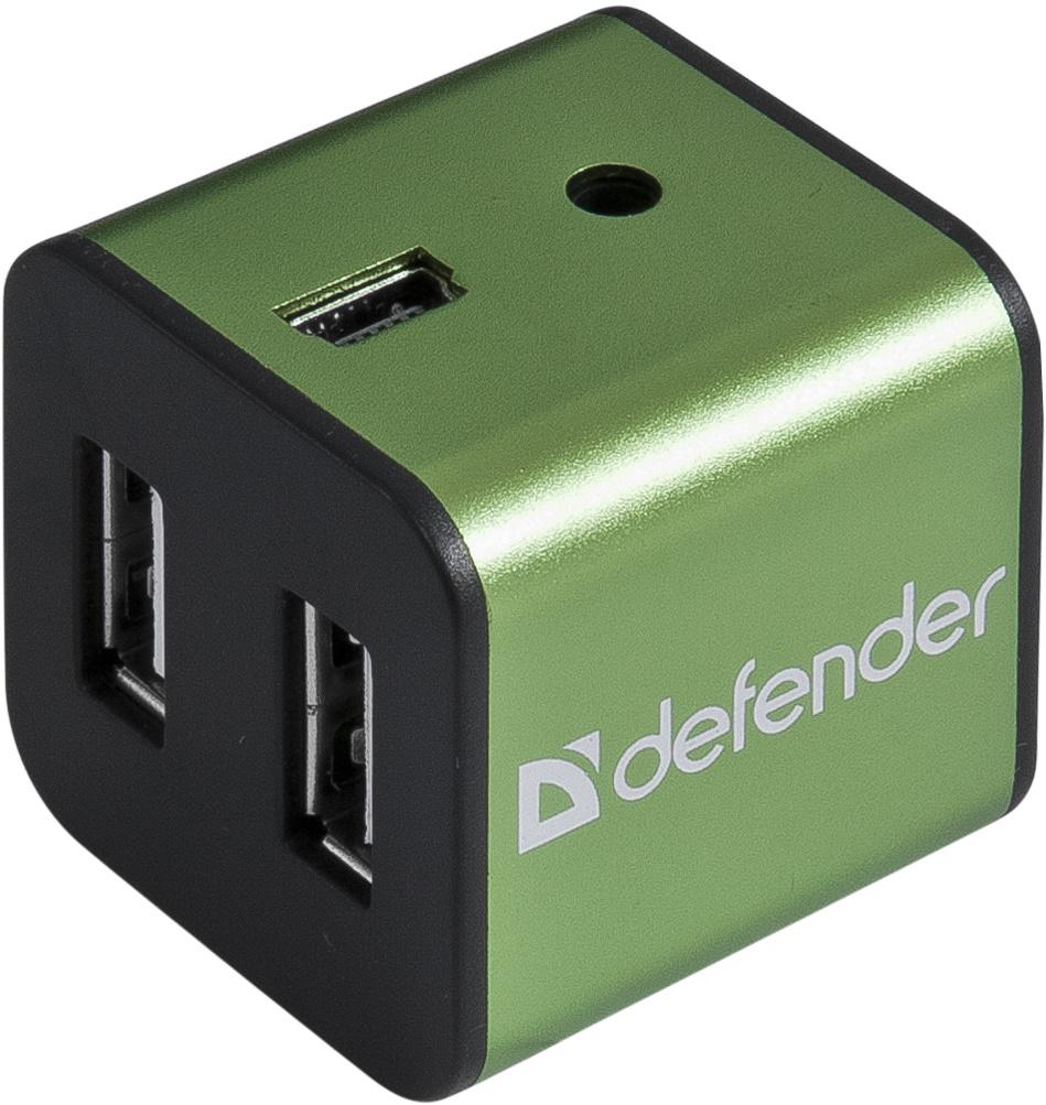 USB-разветвитель Defender Quadro Iron USB 2.0, 83506, 4 порта