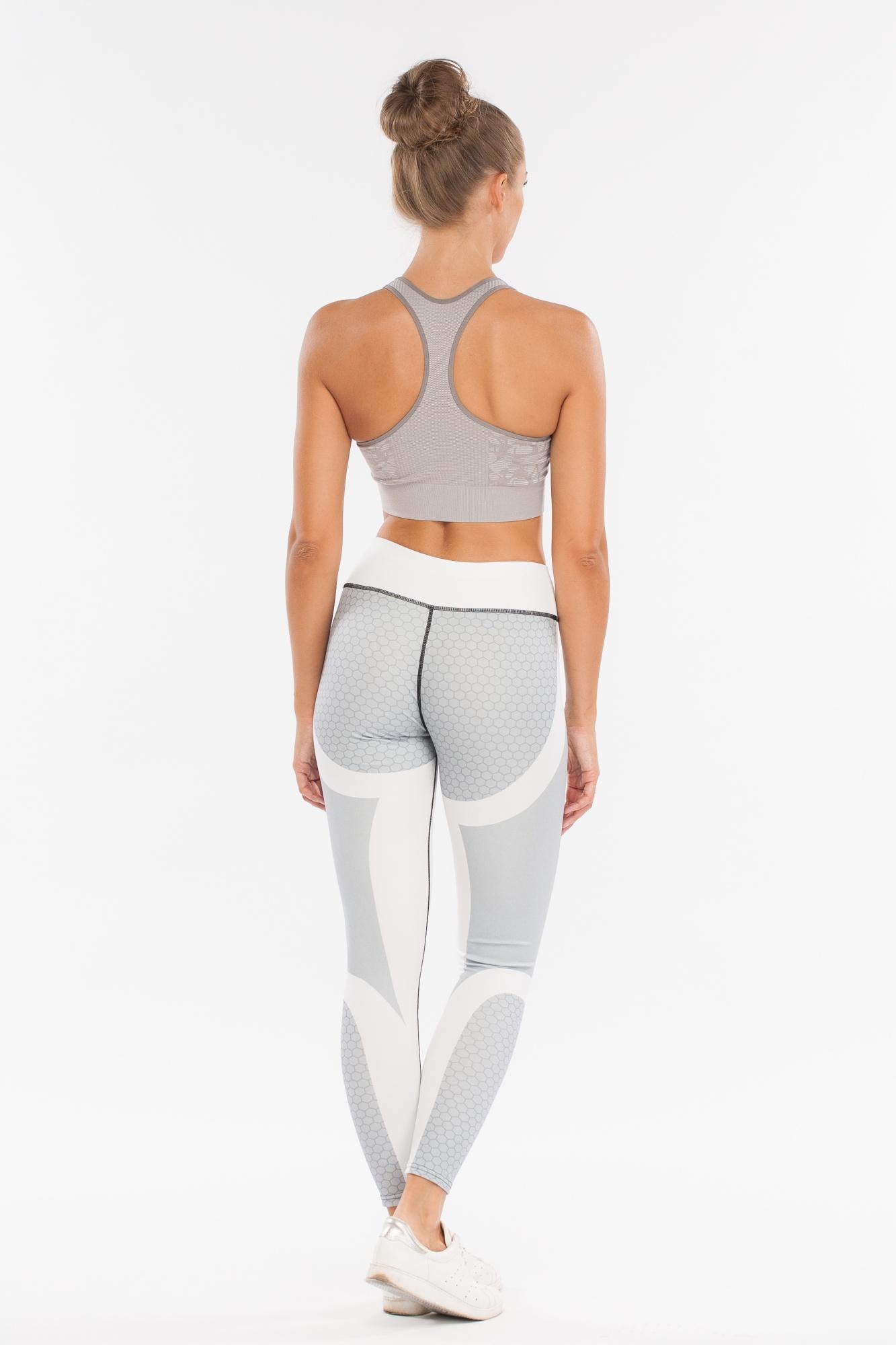 Леггинсы женские Morera, цвет: Серый. Размер 4893093 GREY (XL)Леггинсы для фитнеса, спорта и бега.