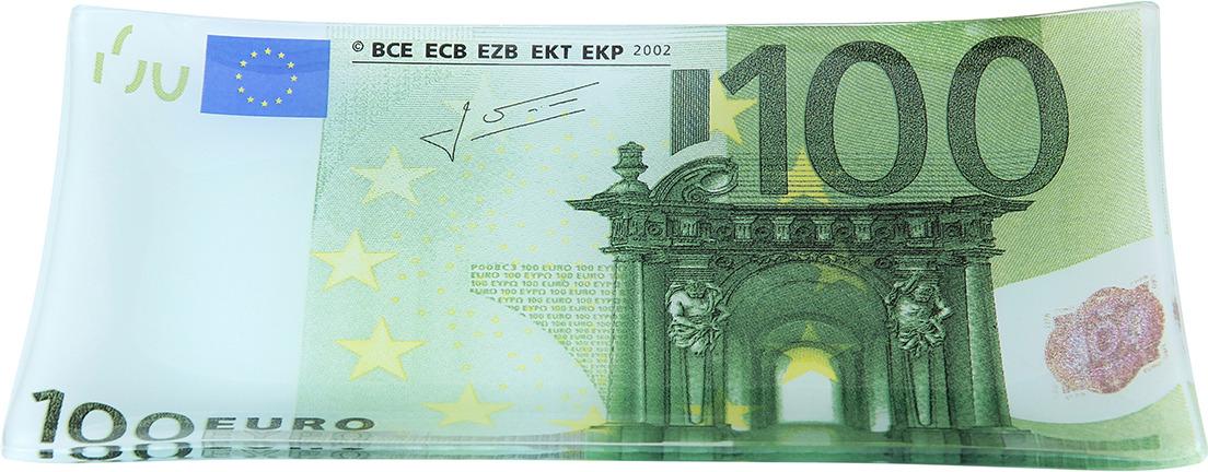 Тарелка Elan Gallery 100 евро, с подставкой, 19 х 10 х 1,5 см elan gallery часы с подставкой итальянский натюрморт