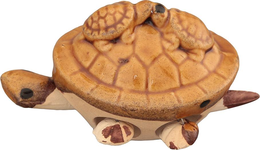 Фигурка декоративная Elan Gallery 3 черепашки, цвет: светло-коричневый, 7 х 5,5 х 5 см соусник elan gallery листок 15 7 5 2 5 см 2 секции