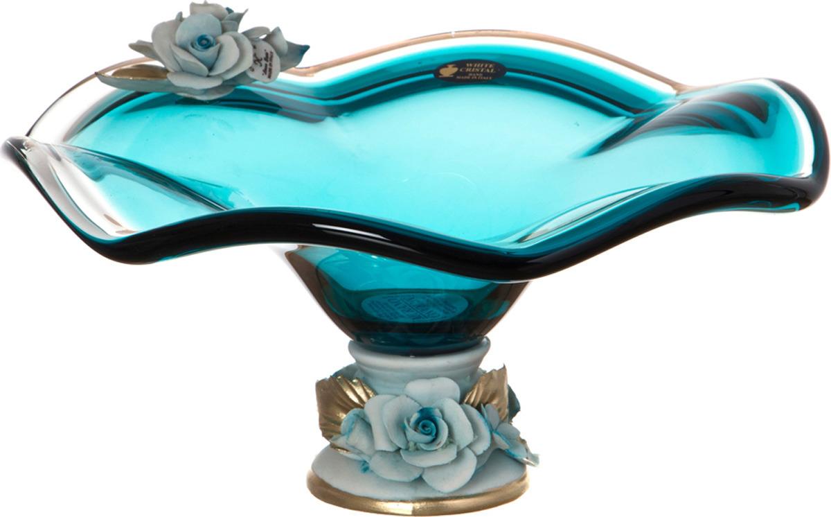 Декоративная чаша Lefard, 647-525, бирюзовый, 26 х 14 см647-525