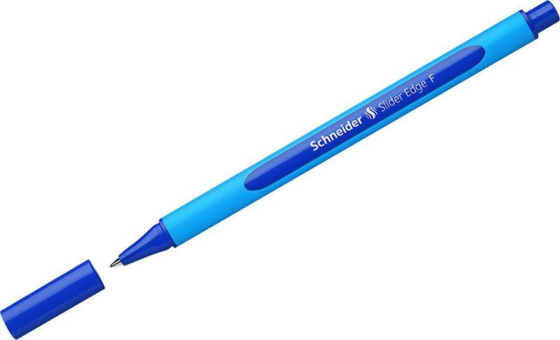 Ручка шариковая Schneider Slider Edge F, трехгранная, 0,8 мм, цвет корпуса: голубой, цвет чернил: синий, 10 шт