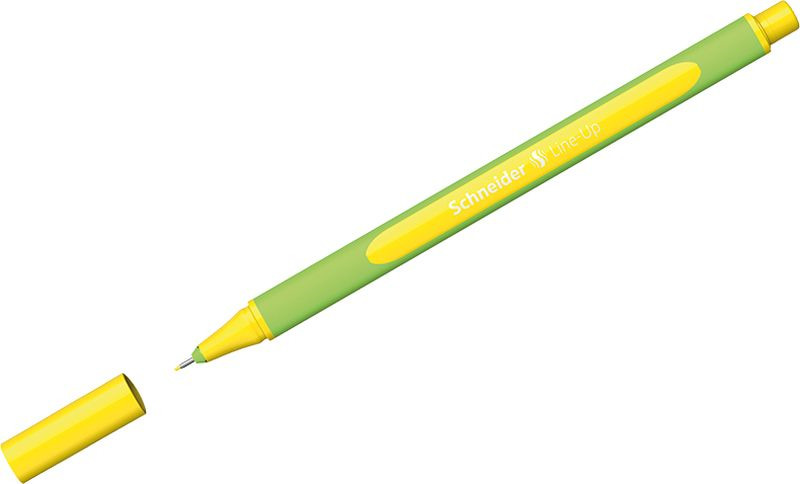 Ручка капиллярная Schneider Line-Up, 0,4 мм, цвет корпуса: салатовый, цвет чернил: золотисто-желтый, 10 шт ручка капиллярная schneider line up набор 8 цветов 191098