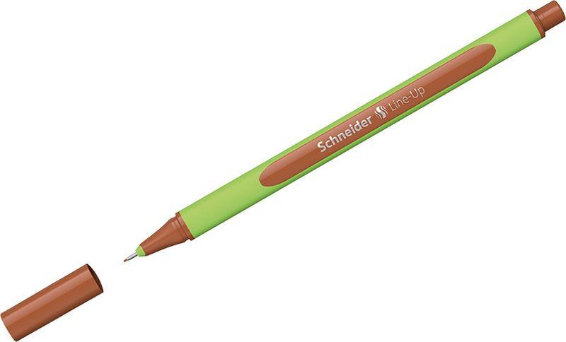 Ручка капиллярная Schneider Line-Up, 0,4 мм, цвет корпуса: салатовый, цвет чернил: красное дерево, 10 шт ручка капиллярная schneider line up набор 8 цветов 191098
