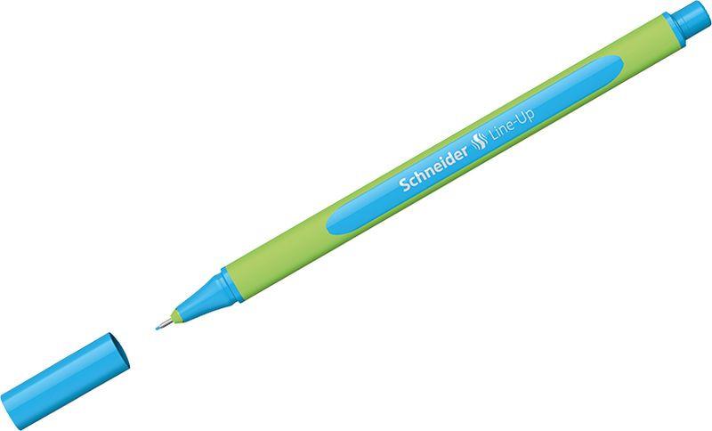 Ручка капиллярная Schneider Line-Up, 0,4 мм, цвет корпуса: салатовый, цвет чернил: лазурный, 10 шт