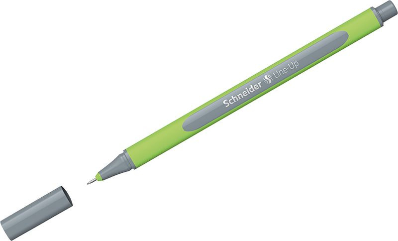 Ручка капиллярная Schneider Line-Up, 0,4 мм, цвет корпуса: салатовый, цвет чернил: серебристо-серый, 10 шт ручка капиллярная schneider line up набор 8 цветов 191098