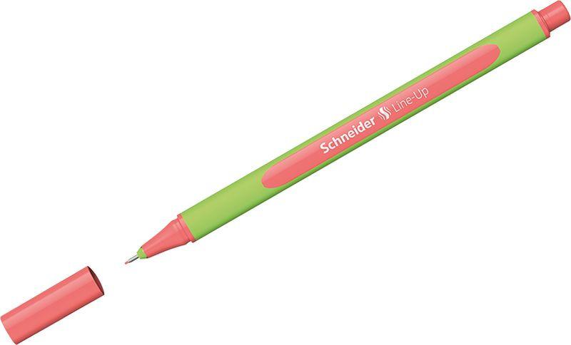 Ручка капиллярная Schneider Line-Up, 0,4 мм, цвет корпуса: салатовый, цвет чернил: коралловый, 10 шт ручка капиллярная schneider line up набор 8 цветов 191098
