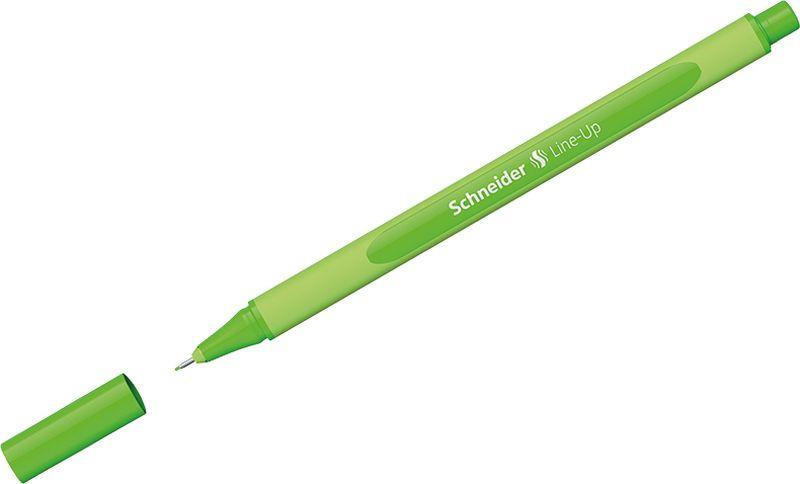 Ручка капиллярная Schneider Line-Up, 0,4 мм, цвет корпуса: салатовый, цвет чернил: неоновый зеленый, 10 шт ручка капиллярная schneider line up набор 8 цветов 191098