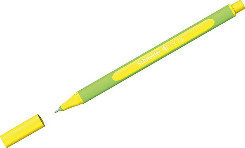 Ручка капиллярная Schneider Line-Up, 0,4 мм, цвет корпуса: салатовый, цвет чернил: неоновый желтый, 10 шт