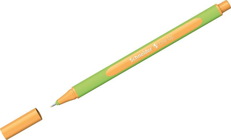 Ручка капиллярная Schneider Line-Up, 0,4 мм, цвет корпуса: салатовый, цвет чернил: неоновый оранжевый, 10 шт ручка капиллярная schneider line up набор 8 цветов 191098