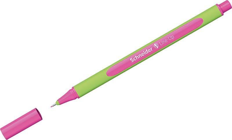 Ручка капиллярная Schneider Line-Up, 0,4 мм, цвет корпуса: салатовый, цвет чернил: неоновый розовый, 10 шт ручка капиллярная schneider line up набор 8 цветов 191098