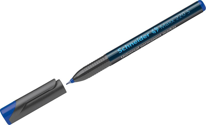 Маркер перманентный Schneider Maxx 220 S, 0,4 мм, цвет: синий, 10 шт