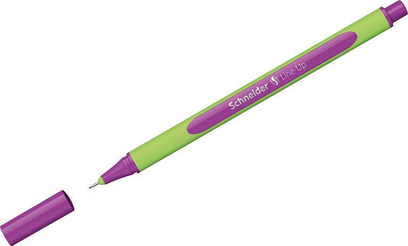 Ручка капиллярная Schneider Line-Up, 0,4 мм, цвет корпуса: салатовый, цвет чернил: ярко-фиолетовый, 10 шт ручка капиллярная schneider line up набор 8 цветов 191098