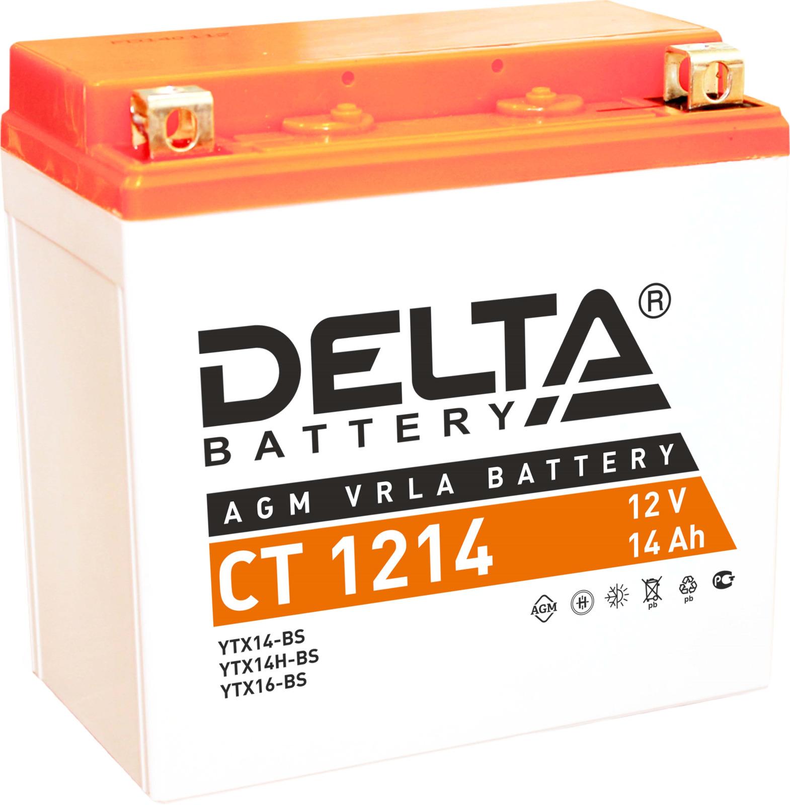 Аккумулятор для мототехники Delta CT 1214 цена