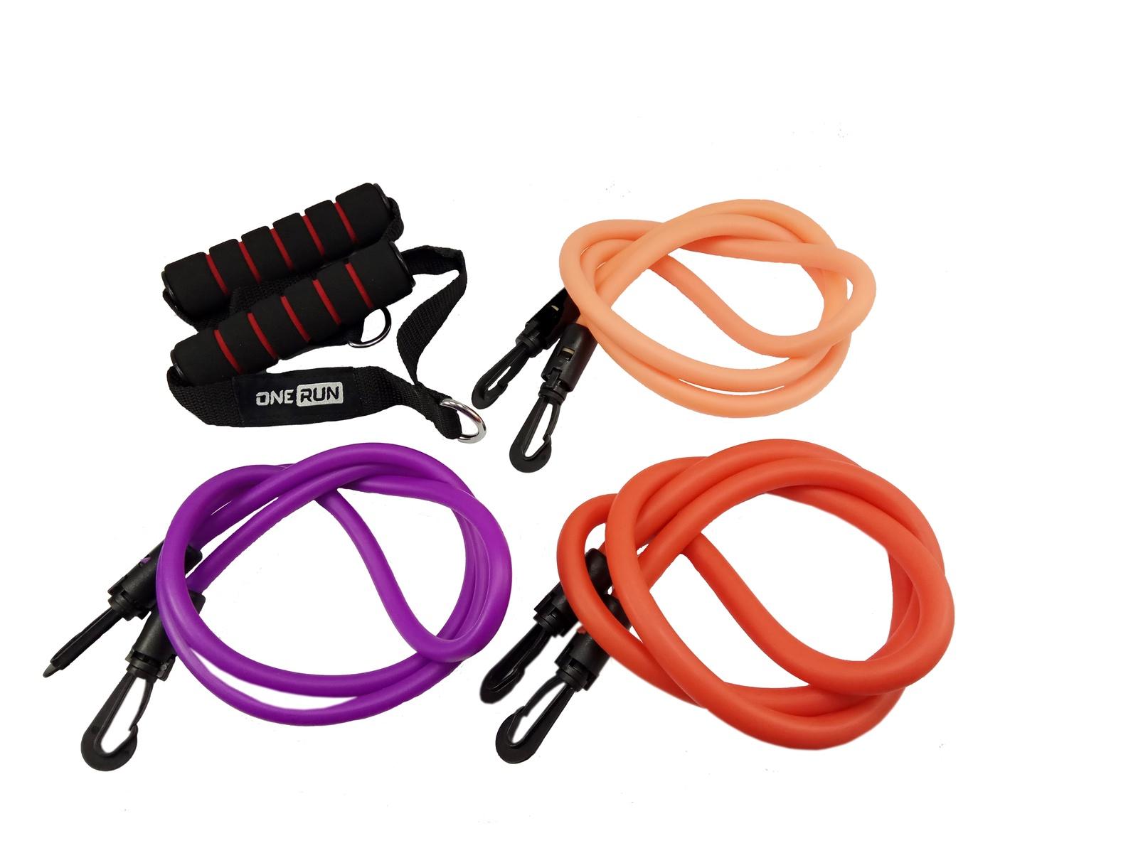 Набор эспандеров трубчатых, OneRun, 495-4853, 3шт набор original fit tools эспандеров трубчатых в защитных чехлах 5 шт и аксессуаров в сумке ft exset pro