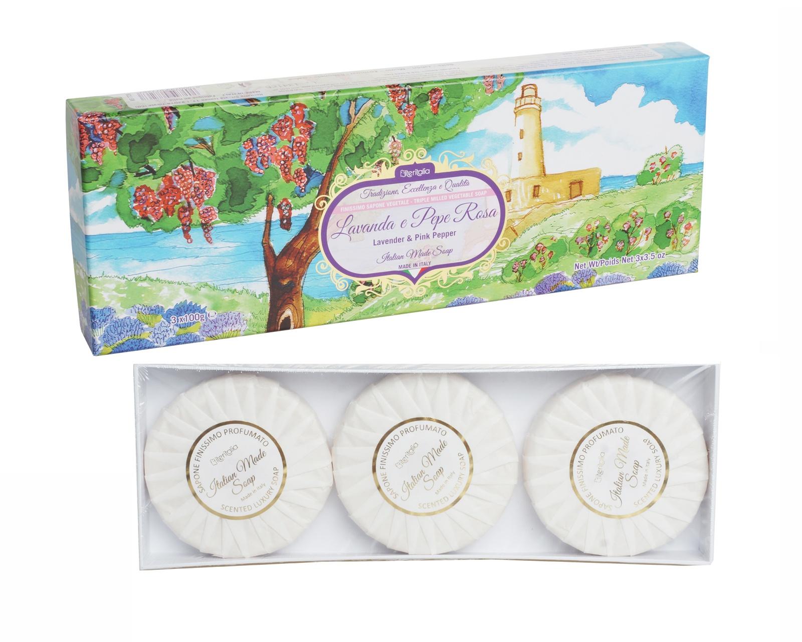 Мыло туалетное Iteritalia Подарочный набор iteritalia мыло высококачественное натуральное растительное с ароматом мандарин юдзу 125 г