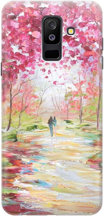 Чехол-накладка Gosso Cases Весенняя роща для Samsung Galaxy A6 Plus 2018 A605G, 180094 чехол накладка gosso cases весенняя роща для samsung galaxy j4 2018 183605 ультратонкий силиконовый