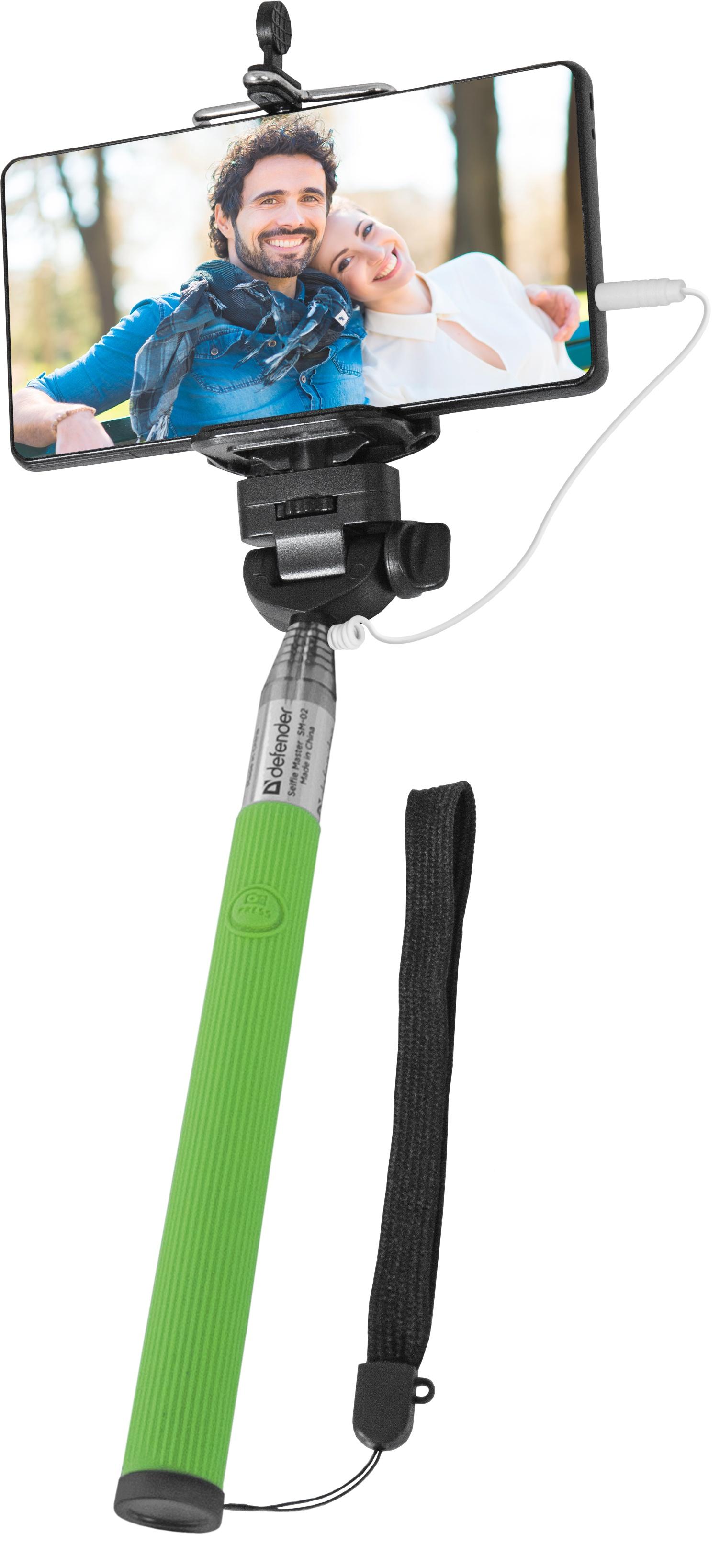 Штатив для селфи Defender Selfie Master SM-02, 29403, зеленый