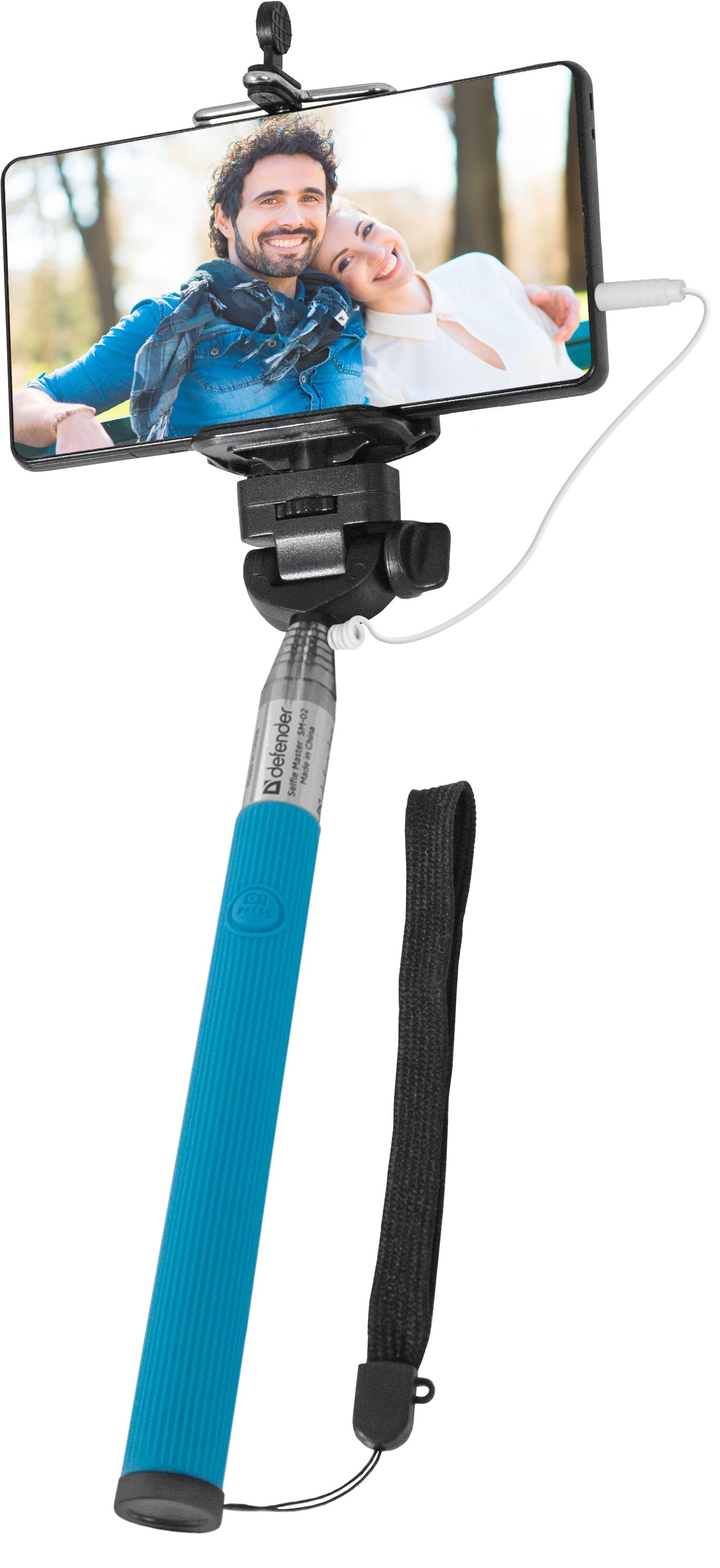 Монопод для селфи Selfie Master, голубой штатив монопод buro selfie ручной ss bt bu голубой серебристый