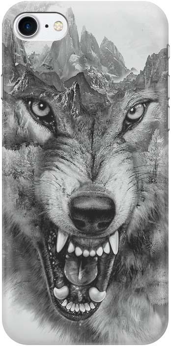 Фото - Чехол-накладка Gosso Cases Волк в горах для iPhone 7 / iPhone 8, 180253 проводной и dect телефон foreign products vtech ds6671 3