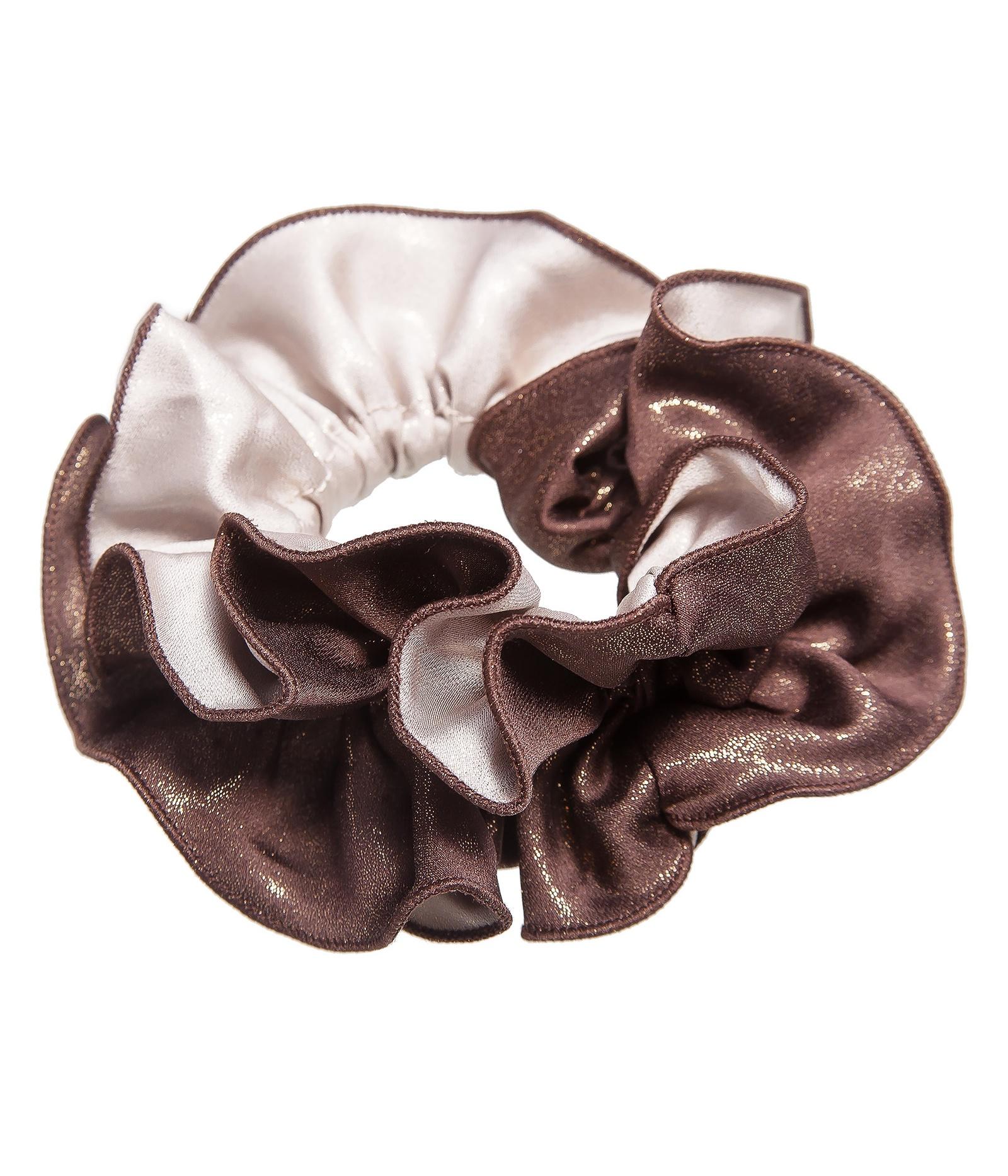 Резинка для волос женская Kameo-bis, H810065, коричневый, бежевыйH810065Размер 14 х 7 см. Состав: текстиль