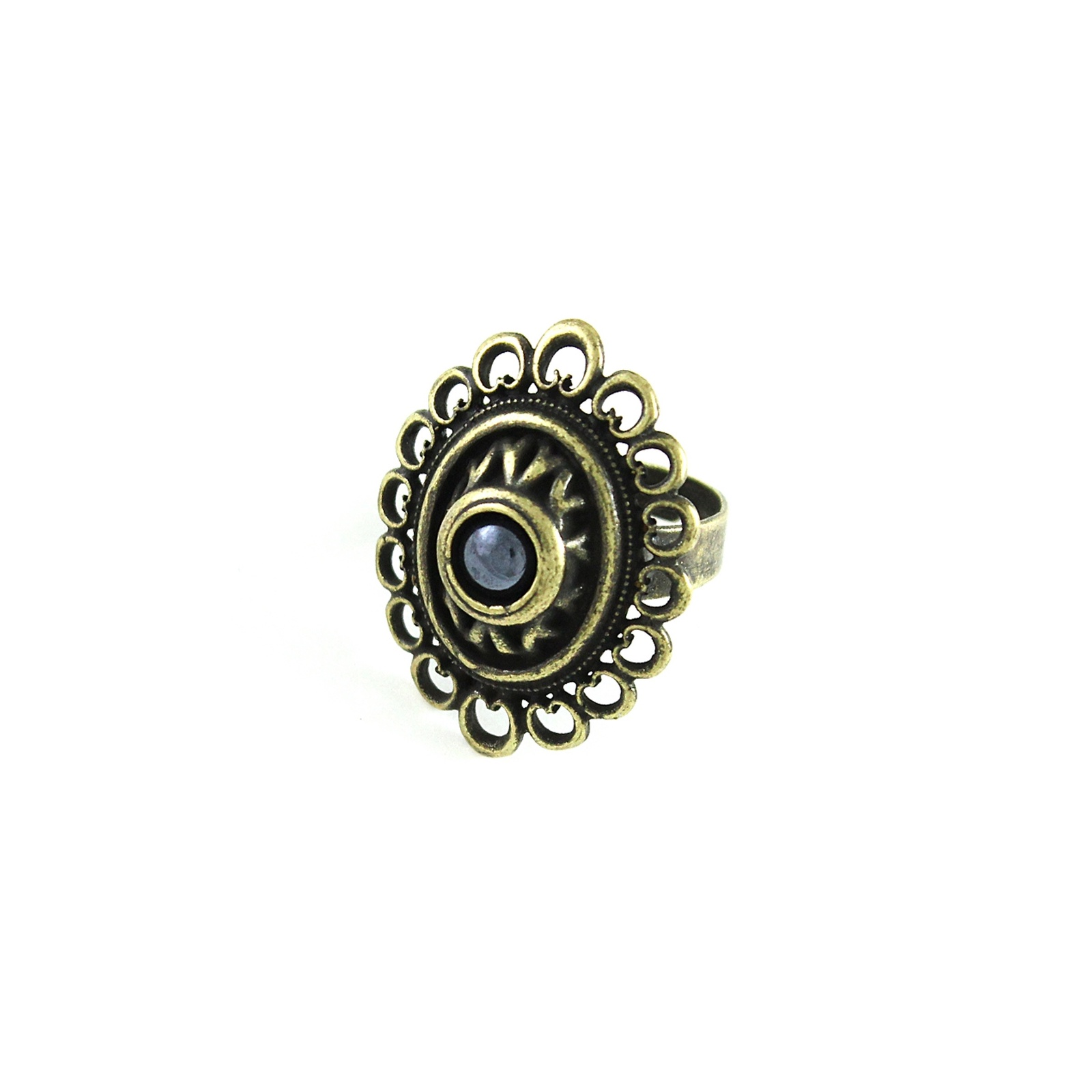 Кольцо Skifska Etnika Романия ажур (гематит),бронза, Бижутерный сплав, 124028583-8, бронза