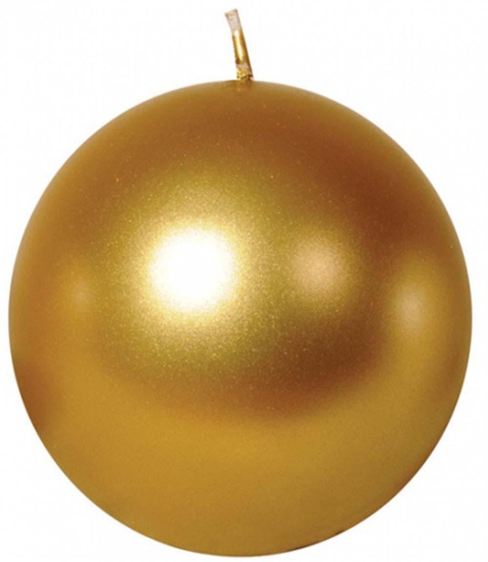 Свеча декоративная Мир свечей Шар, 52-7022, золотой, высота 7 см свеча декоративная proffi шар цвет белый диаметр 7 5 см