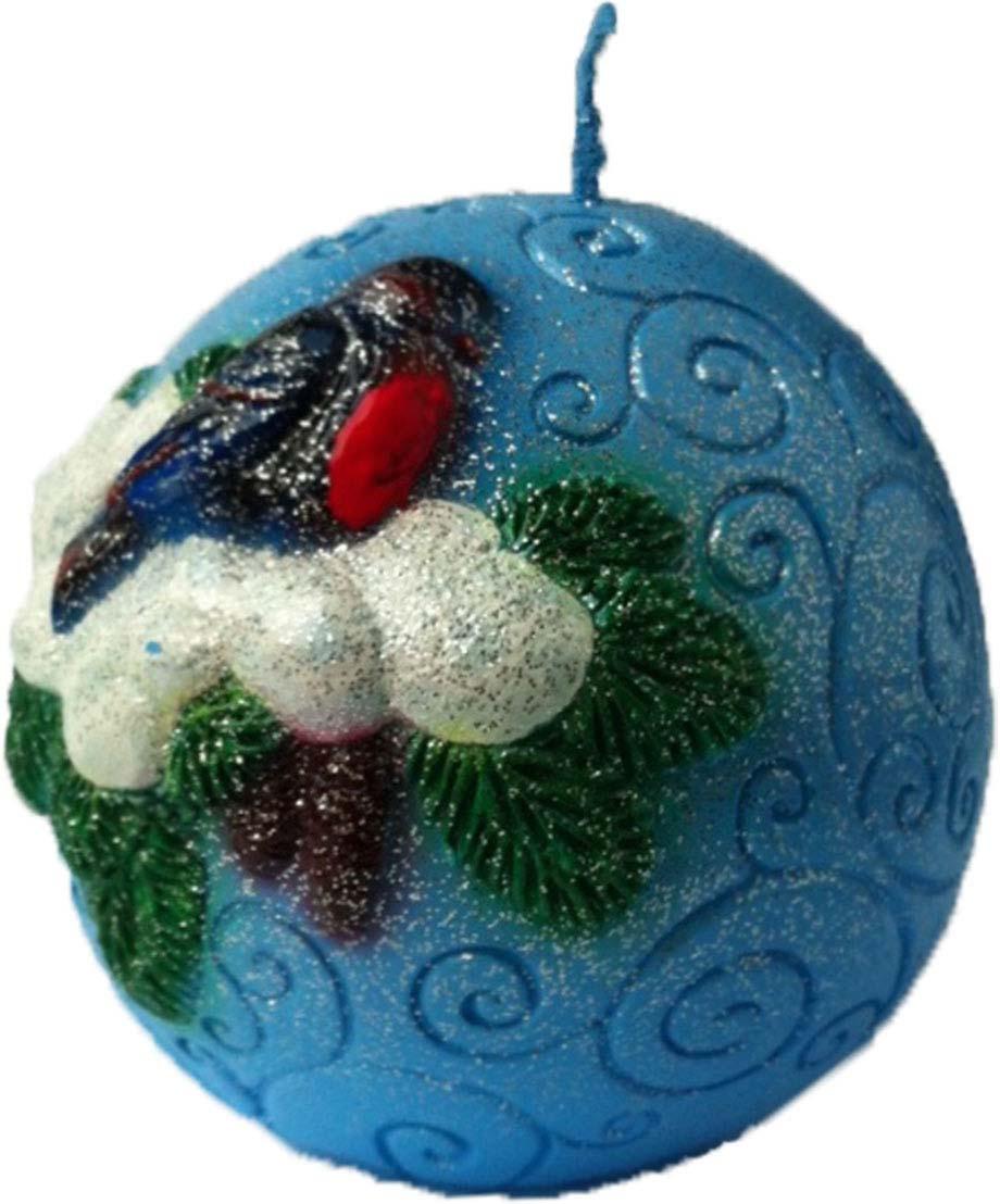 Свеча декоративная Мир свечей Снегири, 63-52.88, мультиколор, высота 7,5 см свеча декоративная proffi шар цвет белый диаметр 7 5 см