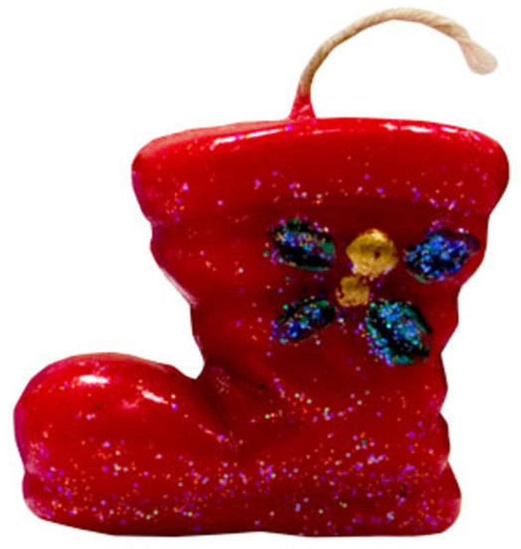 """Свеча декоративная Мир свечей """"Сапожок новогодний"""", 63-42, мультиколор, высота 5 см"""