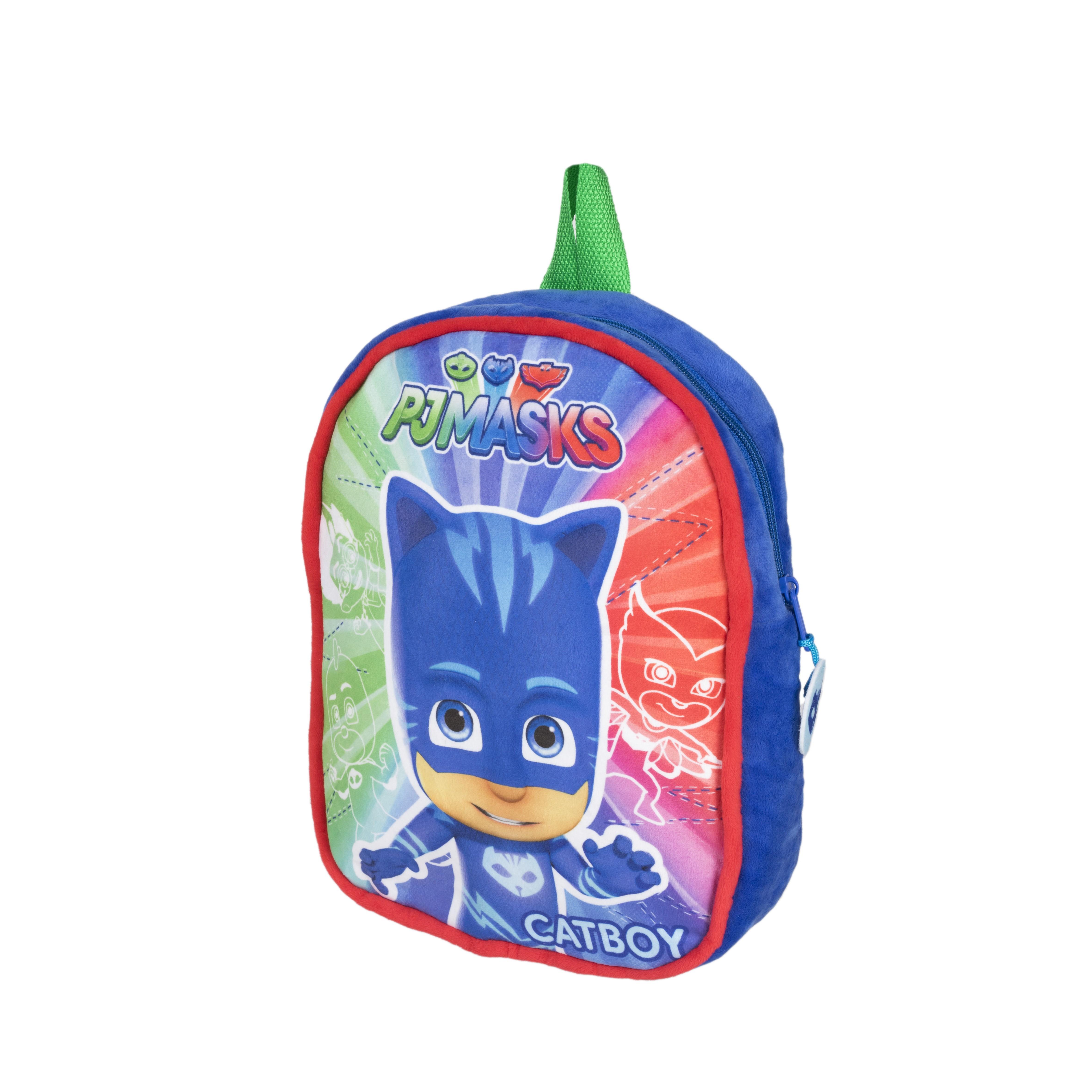 Рюкзак Герои в масках Рюкзачок плюшевый детский, синий, зеленый, красный