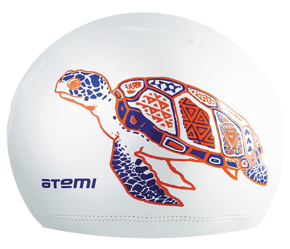 Шапочка для плавания Atemi, PU305-w, белый шапочки и чепчики лео шапочка мой ангел