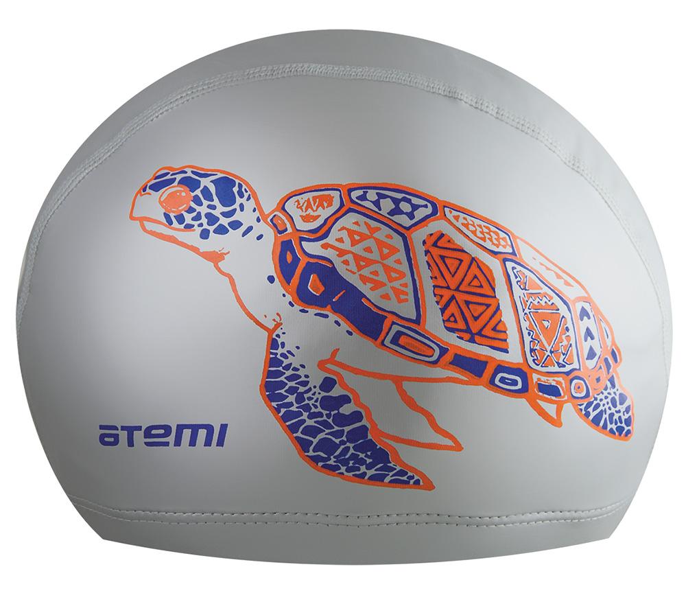 Шапочка для плавания Atemi, PU305-s, серебрянный шапочки и чепчики лео шапочка мой ангел