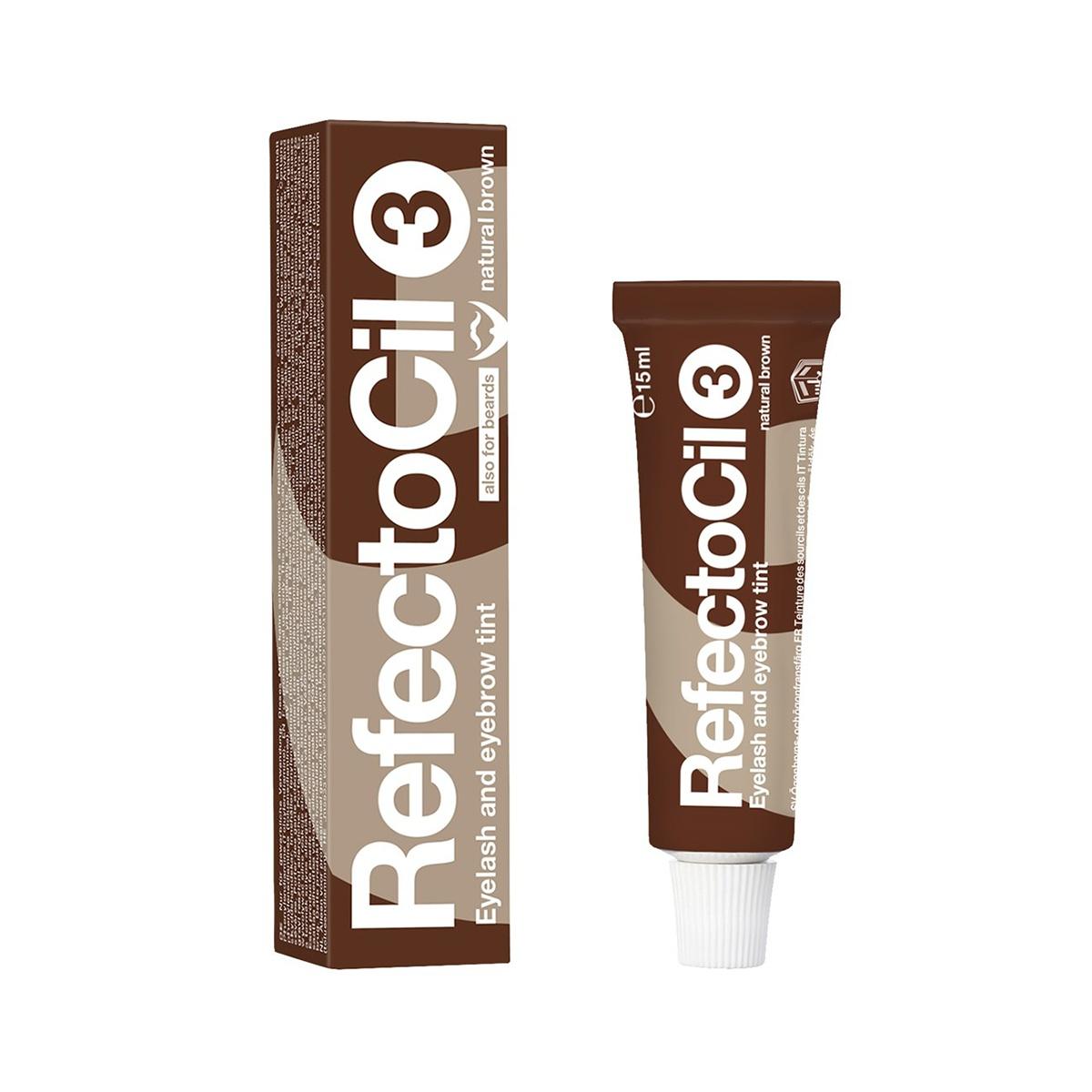 Краска для бровей RefectoCil и ресниц #3 коричневая, 15мл