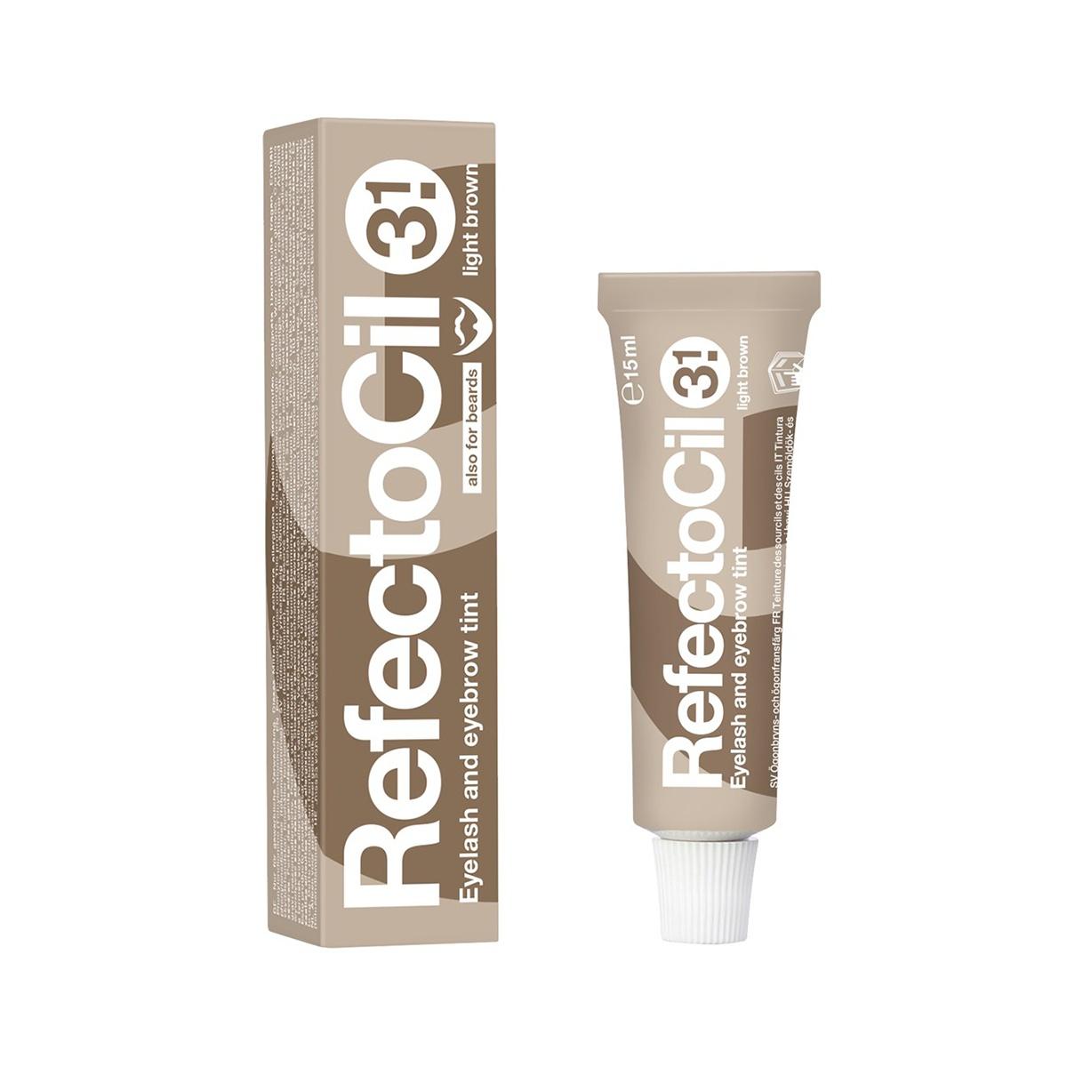 Краска для бровей RefectoCil и ресниц #3.1 светло-коричневая, 15мл