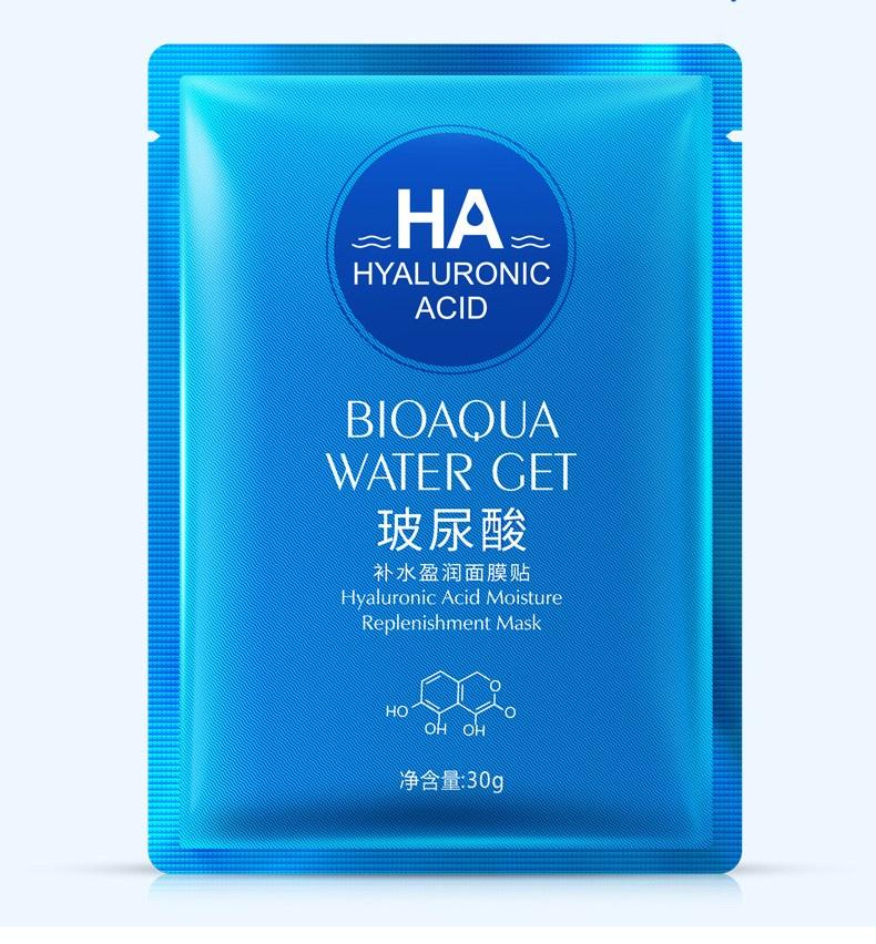 Маска косметическая BIOAQUA маска для лица с гиалуроновой кислотой, 30 г. premium jet cosmetics маска суперальгинатная биоплацентарное омоложение с гиалуроновой кислотой 20 г и 60 мл