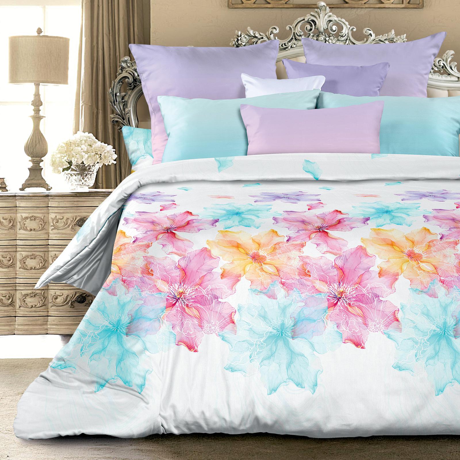 Комплект белья Унисон Эстель, 522165, 1,5 спальный, наволочки 70х70 цена